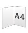 Folders, 2 luik, A4 300 gram, staand