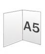 Folders, 2 luik, A5 300 gram, staand