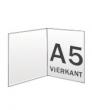 Folders, 2 luik, carre A5 300 gram, staand