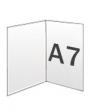 Folders, 2 luik, A7 300 gram, staand