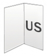 Folders, 2 luik, US 300 gram, staand